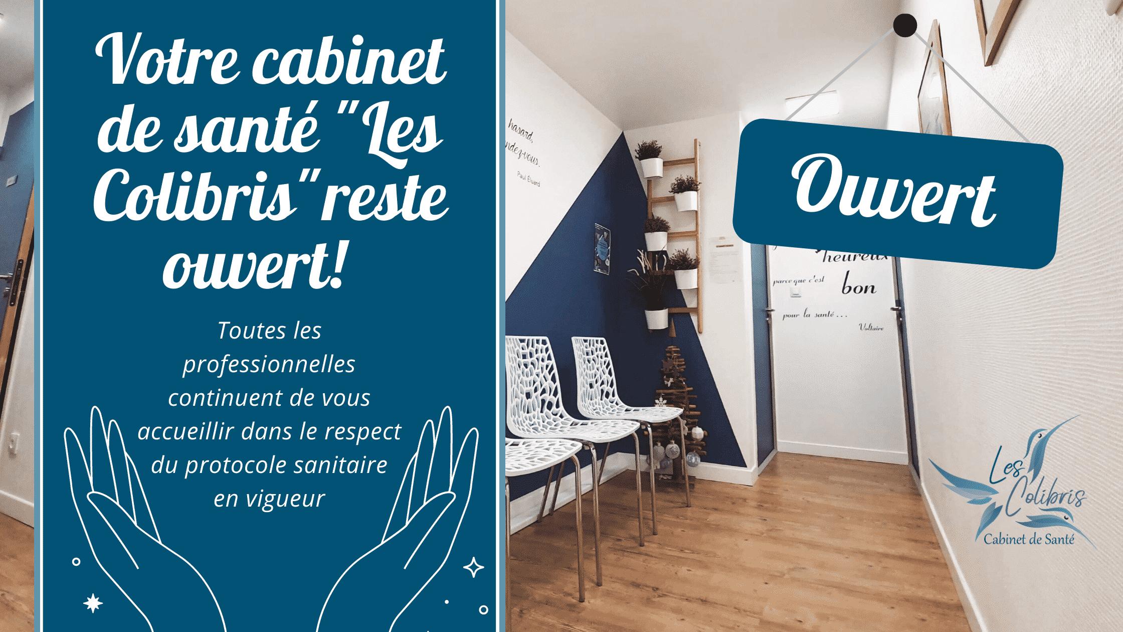 Read more about the article Le cabinet reste ouvert durant le confinement
